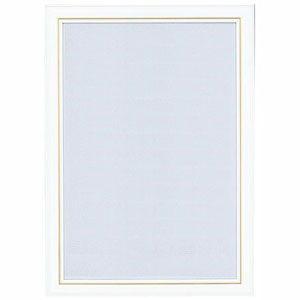やのまん ニューDXウッドフレーム(5-B)ホワイト 金モール仕様 (サイズ:38cm×53cm)ジ...
