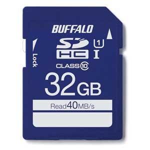 バッファロー SDHCメモリーカード 32GB Class10 UHS-1 RSDC-032GU1S/ N 返品種別A|joshin