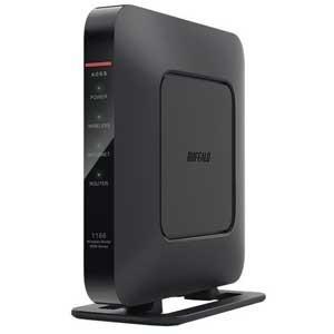 バッファロー 11ac対応 866+300Mbps 無線LANルータ(親機単体)(ブラック) WSR...