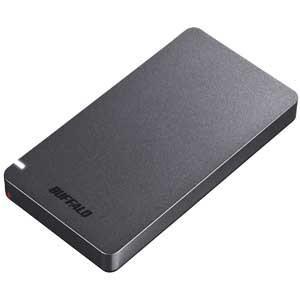 バッファロー USB3.2(Gen2)対応 外付けポータブルSSD 480GB(ブラック)(Play...