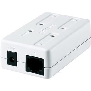 バッファロー 100BASE-TX対応 3ポート スイッチングハブ(ホワイト) LSW-TX-3EP/ CUW 返品種別A|joshin