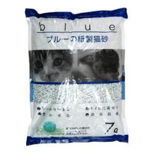KPG ブルーの紙製猫砂 7L ペットプロ KPG ブル-ノカミズナ 7L 返品種別A|joshin