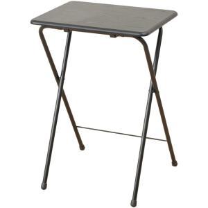 山善 折りたたみテーブルハイタイプ(50×48cm) ウッディブラック YAMAZEN 折りたたみデスク ミニテーブル ハイ YST-5040H-BKBK 返品種別A