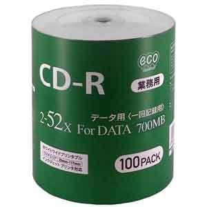 マグラボ データ用52倍速対応 CD-R 100枚パック700MB ホワイトプリンタブル CR80GP100_BULK 返品種別A|joshin