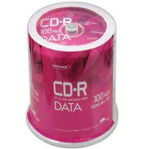 HIDISC データ用 52倍速対応CD-R 100枚パック 700MB ワイドプリンタブル ハイディスク VVDCR80GP100 返品種別A|joshin