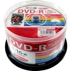 HIDISC 16倍速対応DVD-R 50枚パック 4.7GB ホワイトプリンタブル ハイディスク HDDR12JCP50 返品種別A|Joshin web