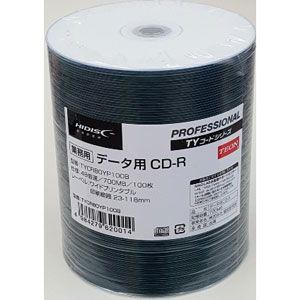 HIDISC データ用700MB 48倍速対応CD-R 100枚パック ワイドプリンタブル ハイディスク TYCR80YP100B 返品種別A|joshin