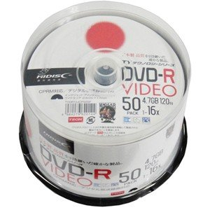 HIDISC 16倍速対応DVD-R 50枚パッ...の商品画像