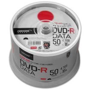 HIDISC データ用 16倍速対応DVD-R 50枚パック 4.7GB ワイドプリンタブル TYDR47JNP50SPMG 返品種別A|joshin
