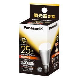 パナソニック LED電球 小形電球形 370lm(電球色相当)(調光器対応) Panasonic EVERLEDS(エバーレッズ) LDA6L-E17/ D 返品種別A