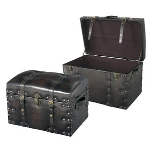 東谷 トランク型 収納ケースセット(S・Lサイズ)ブラック Travel Furniture IW-876 返品種別A|joshin