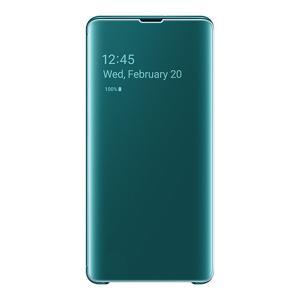 サムスン Galaxy S10+(SC-04L/ SCV42)用 純正 Clear View Cover(グリーン) SAMSUNG EF-ZG975CGEGJP 返品種別A joshin