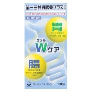 (第2類医薬品) 第一三共ヘルスケア 第一三共胃腸薬プラス錠剤 180錠  返品種別B|joshin
