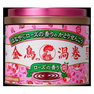 金鳥の渦巻 ローズの香り 30巻(缶) 大日本除虫菊 キンチヨウコウロ-ズ30 返品種別A|joshin