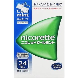 (第(2)類医薬品) 武田薬品工業 ニコレットクールミント 24個 ◆セルフメディケーション税制対象商品 返品種別B joshin