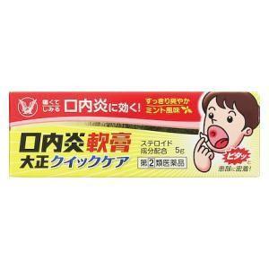 (第(2)類医薬品) 大正製薬 口内炎軟膏大正クイックケア 5g ◆セルフメディケーション税制対象商品 返品種別B|joshin