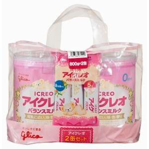 アイクレオのバランスミルクにこにこセット 800g×2個 江崎グリコ (0ヶ月から) 返品種別B Joshin web
