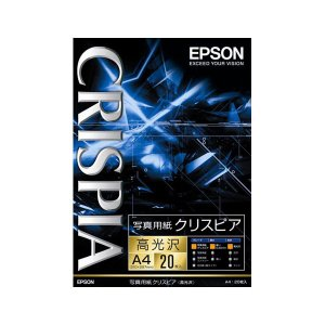 エプソン A4写真用紙 20枚 EPSON クリスピア KA420SCKR 返品種別A|joshin