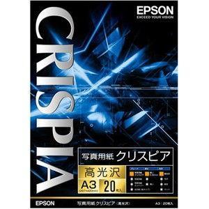 エプソン A3 写真用紙(高光沢・20枚) CRISPIA クリスピア KA320SCKR 返品種別A|joshin