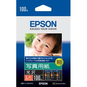 エプソン 写真用紙 <光沢> (L判/ 100枚) KL100PSKR 返品種別A joshin