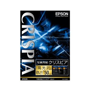 エプソン 2L版 写真用紙(高光沢・50枚) CRISPIA クリスピア K2L50SCKR 返品種別A|joshin