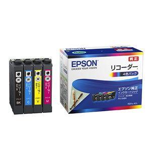 エプソン 純正インクカートリッジ(4色パック) EPSON リコーダーシリーズ RDH-4CL 返品種別A|joshin