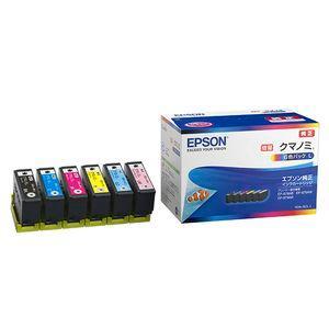 エプソン 純正インクカートリッジ(6色セット・増量) クマノミシリーズ(KUI-BK、KUI-C、KUI-M、KUI-Y、KUI-LC、KUI-LM) KUI-6CL-L 返品種別A|joshin