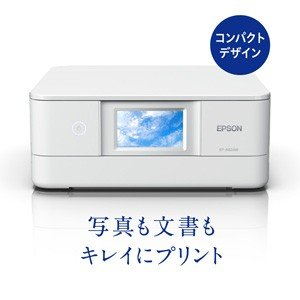 エプソン A4プリント対応 インクジェットプリンタ複合機(6色染料)/ 直感タッチパネル(ホワイト)...