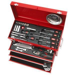 京都機械工具 9.5sq.工具セット(チェストタイプ) KTC SK3567X 返品種別A|joshin