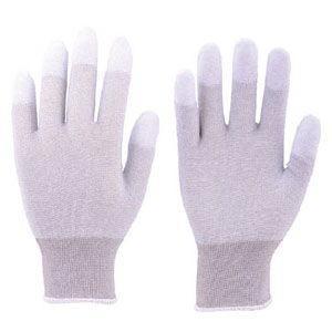 トラスコ中山 指先コート静電気対策用手袋 Lサイズ TGL2996L 返品種別A