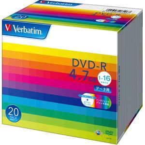 バーベイタム データ用16倍速対応DVD-R20枚パック ホワイトプリンタブル DHR47JP20V1 返品種別A|joshin