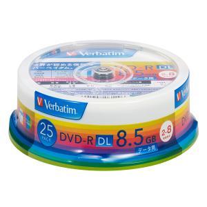 バーベイタム データ用8倍速対応DVD-R DL 25枚パック 8.5GB ホワイトプリンタブル DHR85HP25V1 返品種別A|joshin