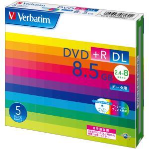 バーベイタム データ用8倍速対応DVD+R DL 5枚パック 片面8.5GB ホワイトプリンタブル DTR85HP5V1 返品種別A|joshin