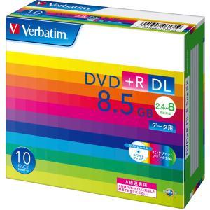 バーベイタム データ用8倍速対応DVD+R DL 10枚パック 片面8.5GB ホワイトプリンタブル DTR85HP10V1 返品種別A|joshin