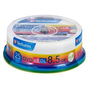 バーベイタム データ用8倍速対応DVD+R DL 25枚パック 片面8.5GB ホワイトプリンタブル DTR85HP25V1 返品種別A|joshin