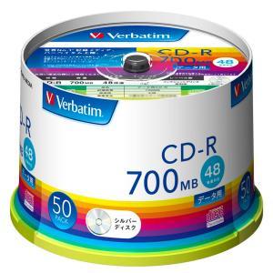 バーベイタム データ用48倍速対応CD-R 50枚パック 700MB シルバーレーベル SR80FC50V1 返品種別A|joshin