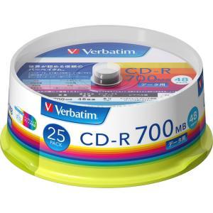バーベイタム データ用700MB 48倍速対応CD-R 25枚パック ホワイトプリンタブル SR80FP25V1 返品種別A|joshin
