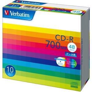 バーベイタム データ用700MB 48倍速対応CD-R 10枚パック ホワイトプリンタブル SR80SP10V1 返品種別A|joshin