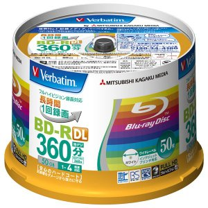 バーベイタム 4倍速対応BD-R DL 50枚パ...の商品画像