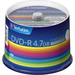 バーベイタム データ用16倍速対応DVD-R50枚パック4.7GB ホワイトプリンタブル Verbatim DHR47JP50V3 返品種別A|joshin