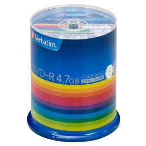 バーベイタム データ用16倍速対応DVD-R 100枚パック 4.7GB ホワイトプリンタブル Verbatim DHR47JP100V3 返品種別A