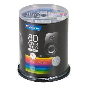 バーベイタム 音楽用CD-R80分100枚パック MUR80FP100SV1 返品種別A