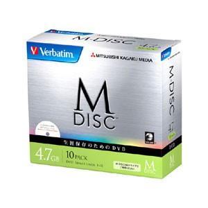 バーベイタム データ用4倍速対応 長期保存DVD-R10枚パック4.7GB ホワイトプリンタブル Verbaitim 長期保存用DVD-R「M-DISC」 DHR47YMDP10V1 返品種別A|joshin