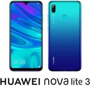HUAWEI(ファーウェイ) nova lite 3 オーロラブルー [6.21インチ /  メモリ...