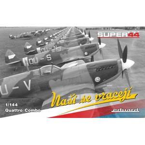 エデュアルド スピットファイア Mk.IX PEパーツ付×4機セット(1/144スケール ウィークエンド EDU4432)の商品画像|ナビ