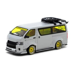 ターマックワークス 1/ 64 Toyota Hiace Widebody Grey with ro...