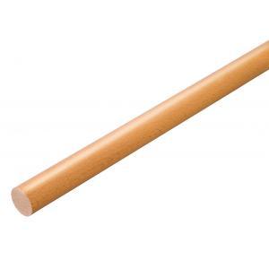 手すり 木製 手すり棒 2m 玄関 階段 トイレ 介護 歩行補助 マツ六 BAUHAUS 32mmグロス丸棒 BC-GL22 Lオーク|joule-plus