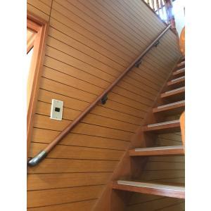 手すり 階段 住宅用 直線階段用32mm手すりセット 手すり棒太さ:32mm 手すり棒カラー:クリア 金物カラー:ゴールド|joule-plus