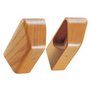 木製 手すり 肘掛け マツ六 BAUHAUS Dエンドキャップ(左右組) BG-02M Mオーク|joule-plus