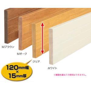 階段 廊下 マツ六 BAUHAUS 木製ベースプレート120mm幅(片面ライン入り) ホワイト 4m BH-434|joule-plus